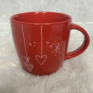 Starbucks 2018 Red Heart Ornament 14oz Mug Coffee